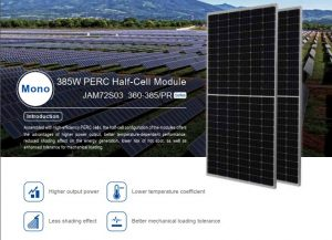 tam pin jasolar nua cell 375wp | GPsolar