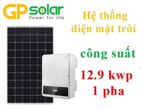 Hệ thống điện mặt trời công suất 12.9 kwp 1 pha