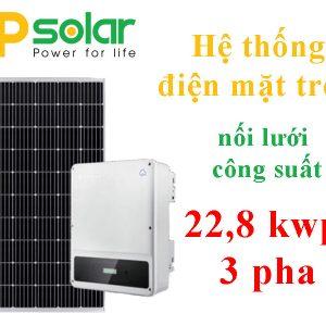 Hệ thống điện mặt trời hòa lưới 22.8 kwp 3 pha
