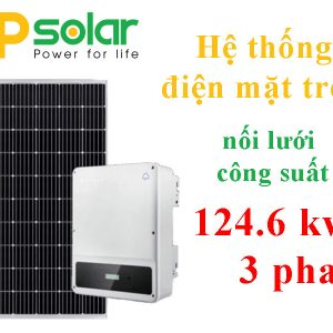 Hệ thống điện mặt trời nối lưới công suất 124.6 kwp 3 pha