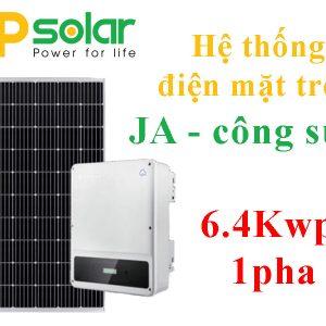 Hệ thống JA 6.4Kwp 1pha