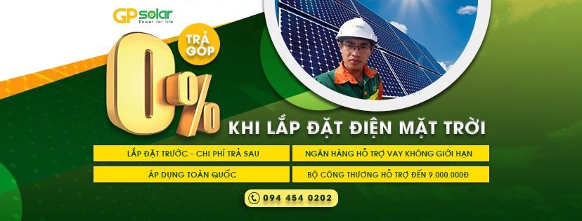 Chương trình trả góp lãi suất 0% trong 12 tháng từ GP SOLAR